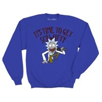 Ripple Junction Rick and Morty It's Time to get Schwifty Adult Sweatshirt Small Royal Blue