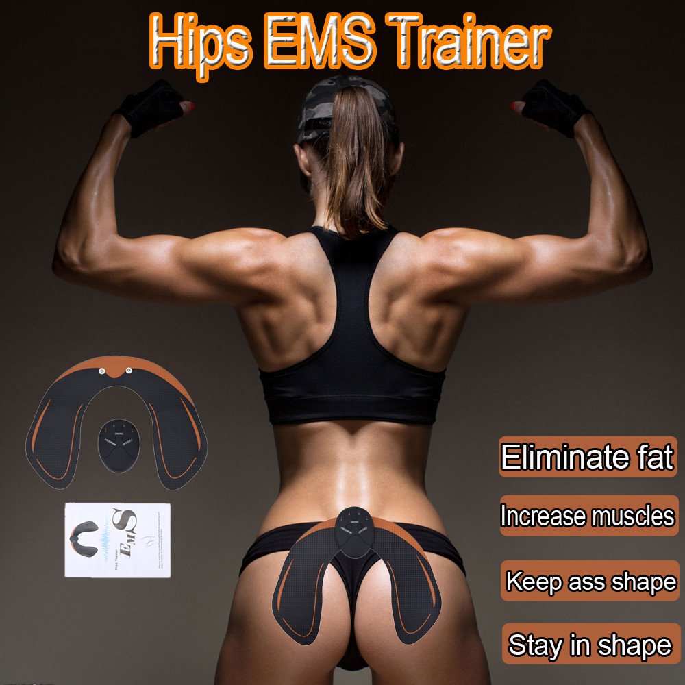 Huppin'sNew Magic EMS Muscle Training Equipment ABS Trainer Smart Gym Fit Hip Training