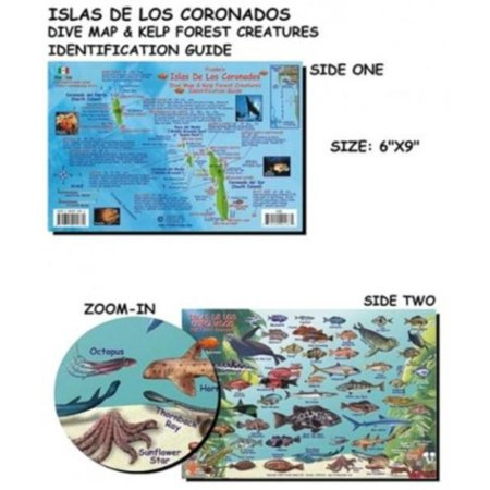 Coronado Island (Coronados Islands (Mexico) Fish ID for Scuba Divers and Snorkelers, Laminated to protect against water Very detailed Images By Franko Maps )