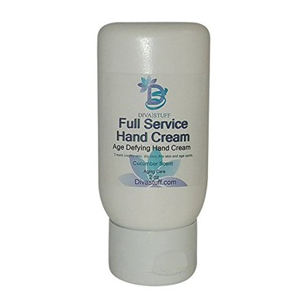 Full Service Age Defying Hand Cream, For Crepey Skin, Age Spots, Thinning Skin and Dry Skin, Cucumber Scent By Diva
