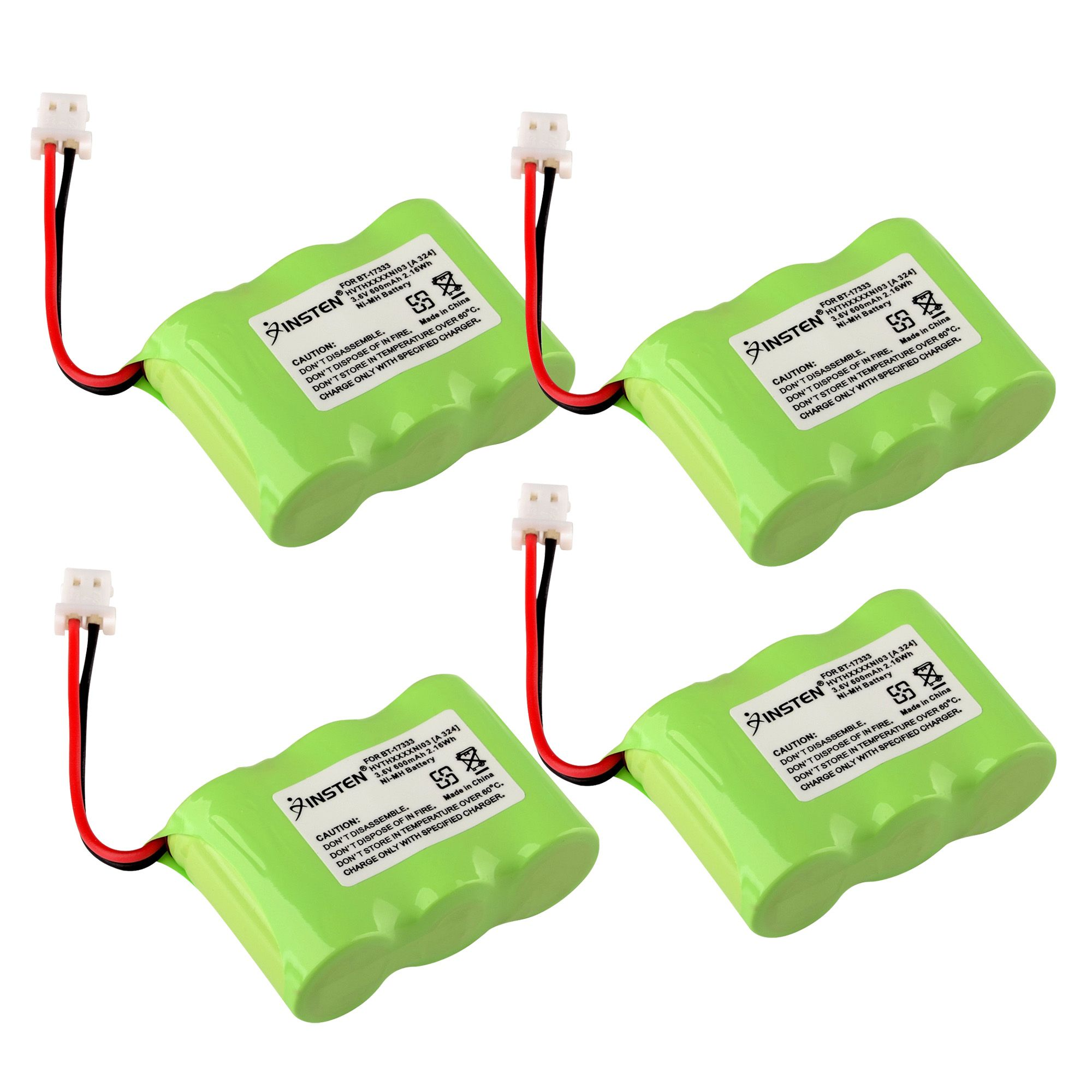 Insten (4 Pack) Extra Ni-Mh Cordless Phone Battery Power For Vtech BT-17333 2111 239069 5111 5113 5121 5122 5211 (4-Pack Bundle)