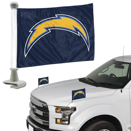 - Los Angeles Chargers Auto Ambassador Flag Set - No Size