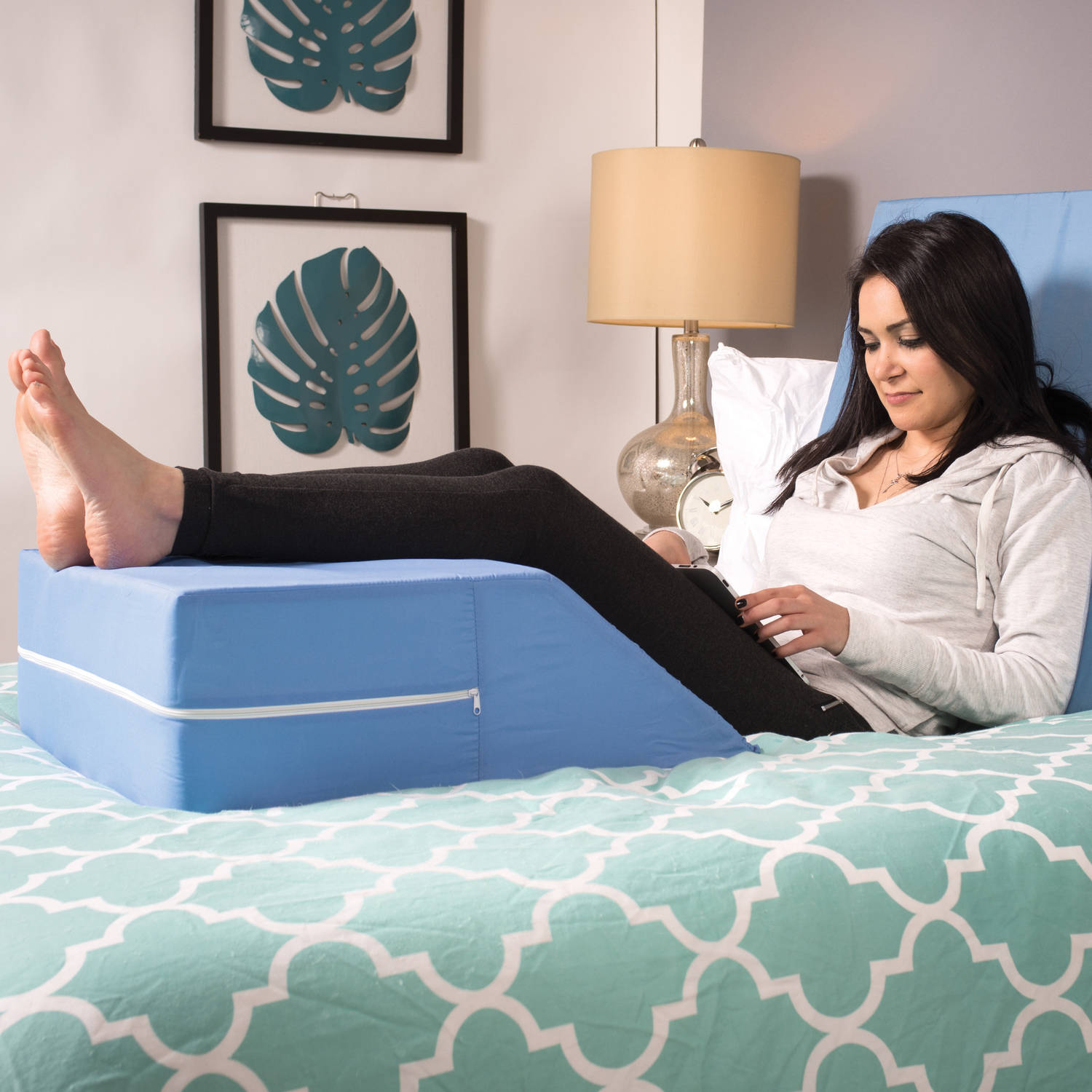 wedge pd pillow brookstone bed in