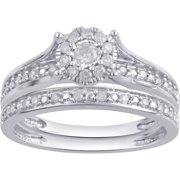 1/3 Carat T.W. Diamond Composite 10Kt White Gold Bridal Set
