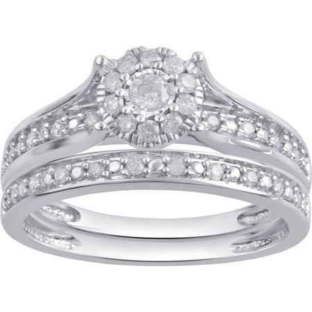 1/3 Carat T.W. Diamond Composite 10Kt White Gold Bridal (Forever Yours Bridal)