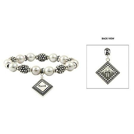Faith Beaded Stretch Bracelet Hope Love Christian Bracelet Gift Present