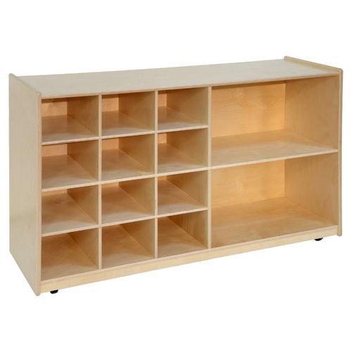 Wood Designs Storage 12 Compartment Cubby With Wheels Walmart Com Walmart Com