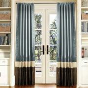 """Mia Federal Blue Window Curtains, Pair, 54"""" x 84"""""""