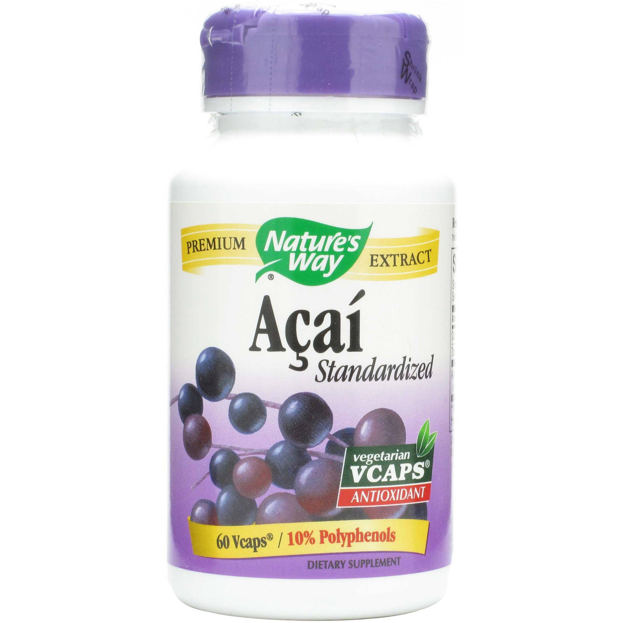 Nature's Way Standardized Acai Capsules, 60 CT