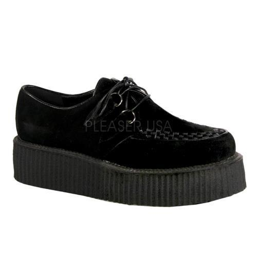 V-CRE502S B IS Demonia Creepers Unisex Shoes BLACK Size: 9 by