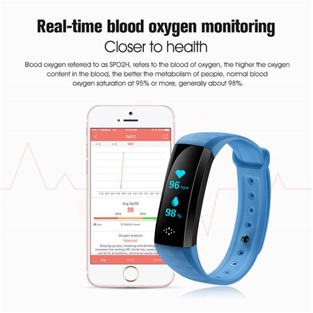 Smart Health Bracelet wide screen Smart Watch - by Epiktec | Heart Rate, Pedometer, Step Counter| Fitness Activity Tracker Smartband - image 2 of 9