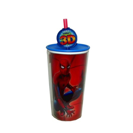 Zak! Designs 10 Ounce Marvel Spiderman Homecoming Travel Tumbler with Straw