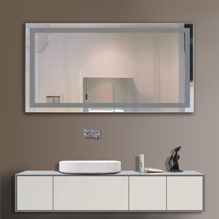 Superb Decoraport Frameless Rectangle Wall Mirror Modern Bathroom Download Free Architecture Designs Sospemadebymaigaardcom