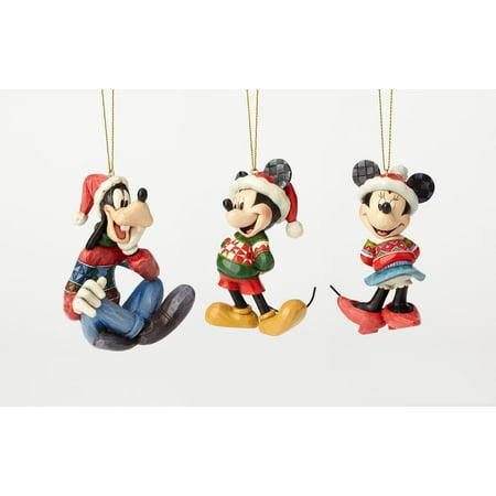 Jim Shore Disney 4057961 Mickey Minnie and Pluto Ornament Set ()