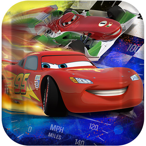 Disney Cars Dream Party Square Dinner Plates