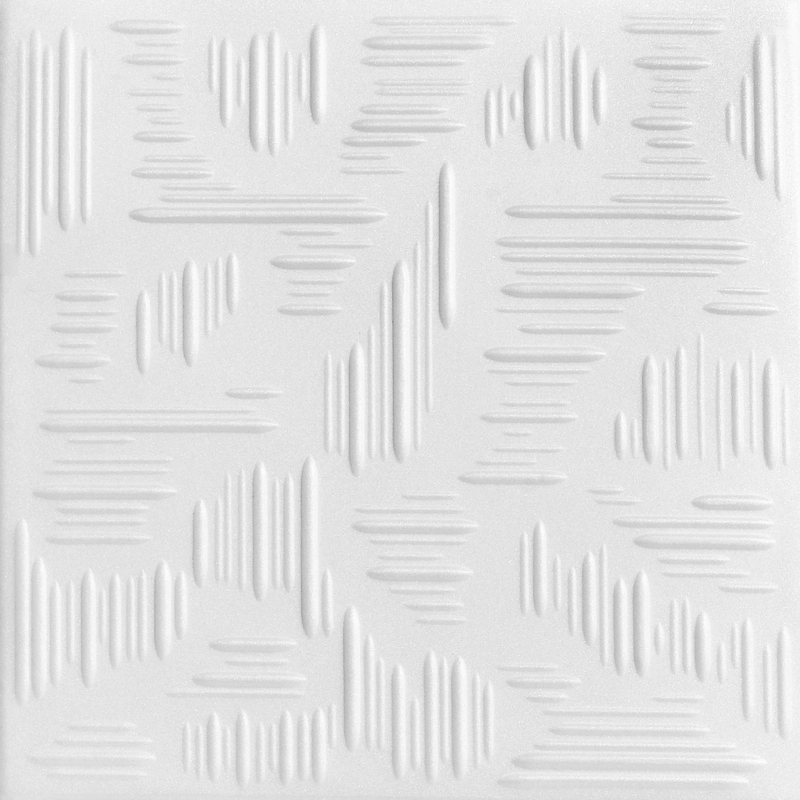 Country Wheat 1.6 ft. x 1.6 ft. Foam Glue-up Ceiling Tile in Plain White (21.6 sq. ft. / case)