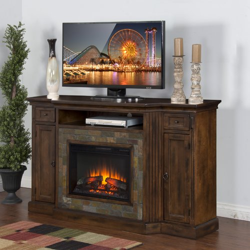 Loon Peak Fresno 72'' TV Stand with Fireplace