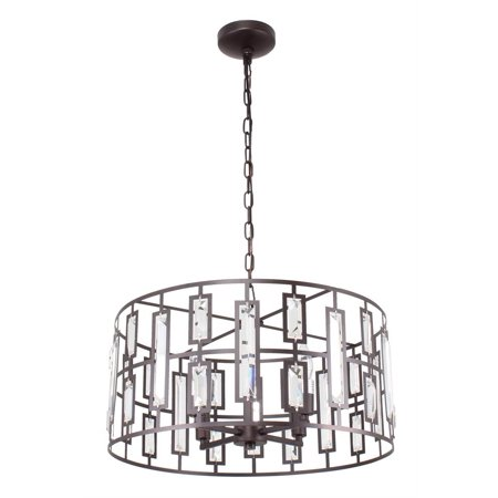 Contemporary Ceiling Lights (CHLOE Lighting NAOMI Contemporary 4 Light Rubbed Bronze Ceiling Pendant 20