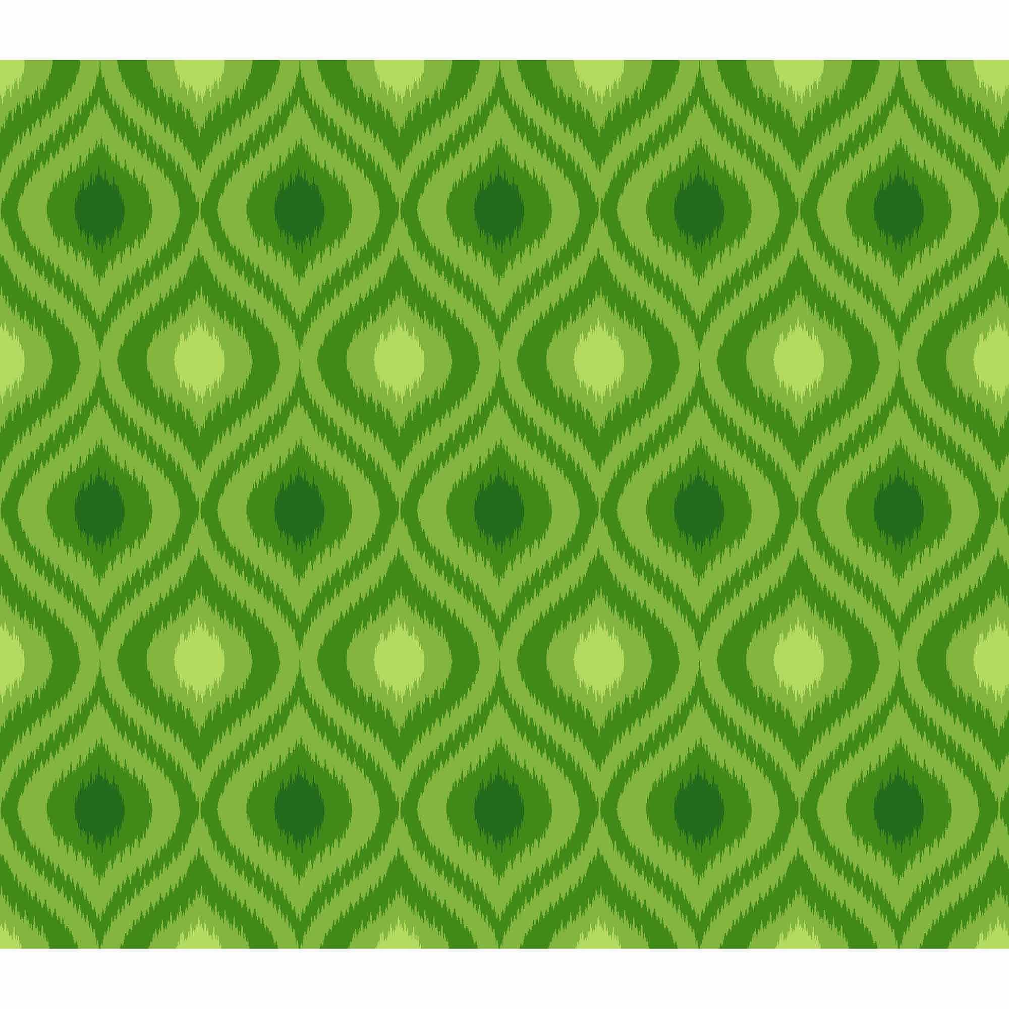Springs Creative Cotton Blenders Tonal Ikat, Green, Fabric by the Yard