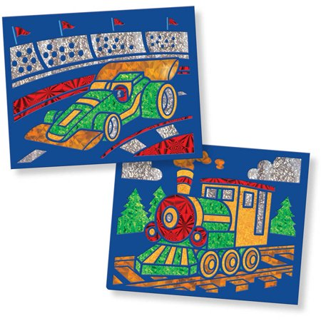 Melissa & Doug On the Go Foil Art Activity Set - Vehicles