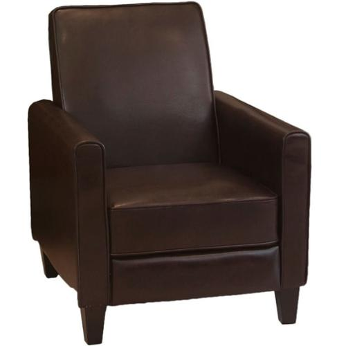 Trent Home Delouth Leather Recliner Club Chair
