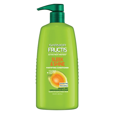 Garnier Fructis Sleek & Shine Conditioner, Frizzy, Dry, Unmanageable Hair, 33.8 fl. oz.