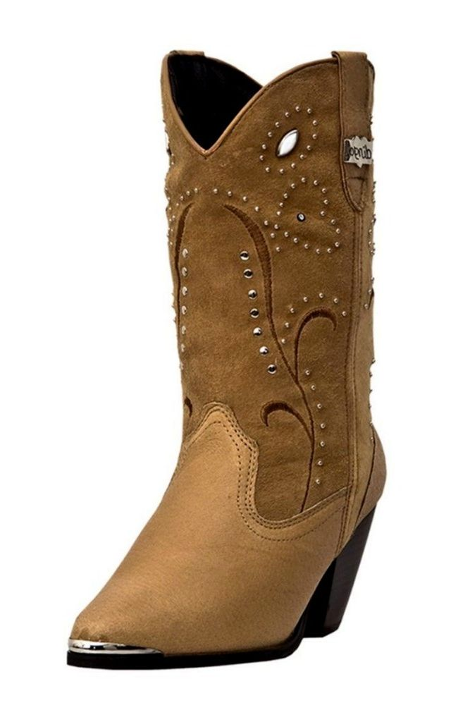 Dingo Fashion Boots Womens Leather Ava Studded Chestnut DI 588 by Dingo