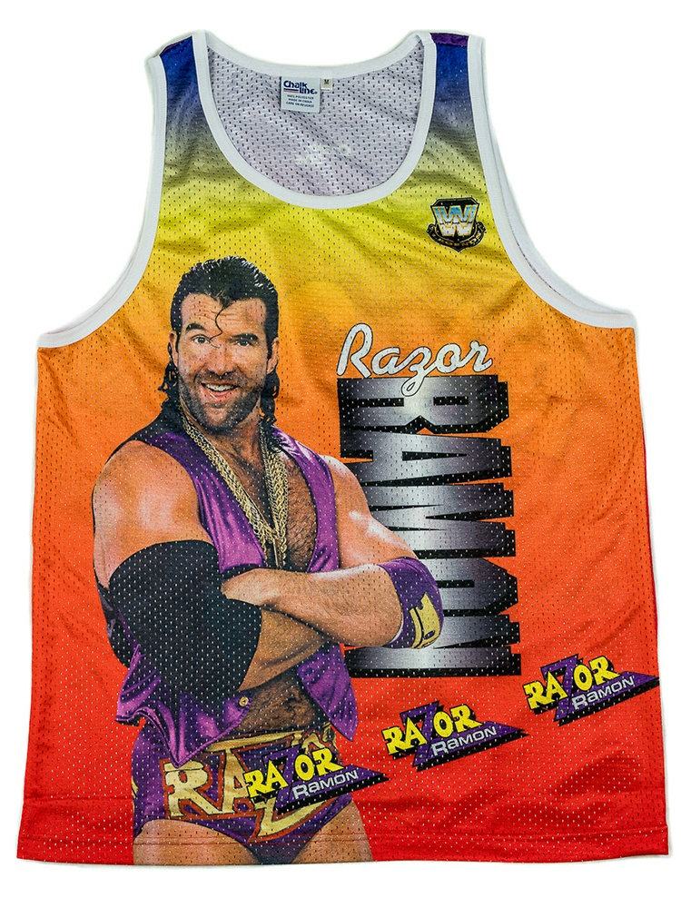 Official WWE Authentic Razor Ramon Fanimation Tank Top Yellow by
