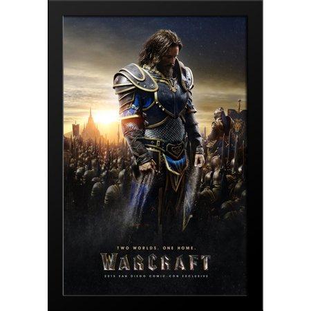 Warcraft 28X38 Large Black Wood Framed Movie Poster Art Print
