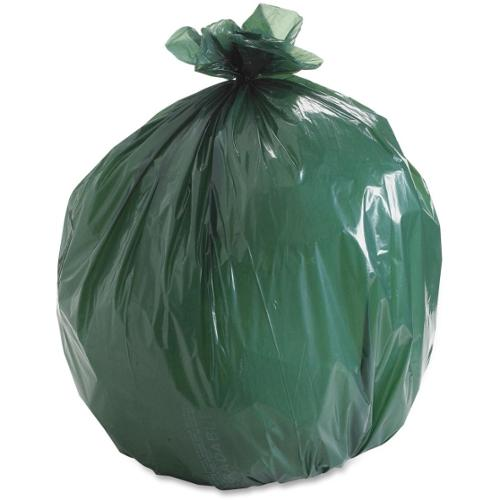 "Stout Controlled Life-Cycle Plastics Trash Bags - 33 gal - 33"" Width x 40"" Length x 1.10 mil (28 Micron) Thickness - Gre"