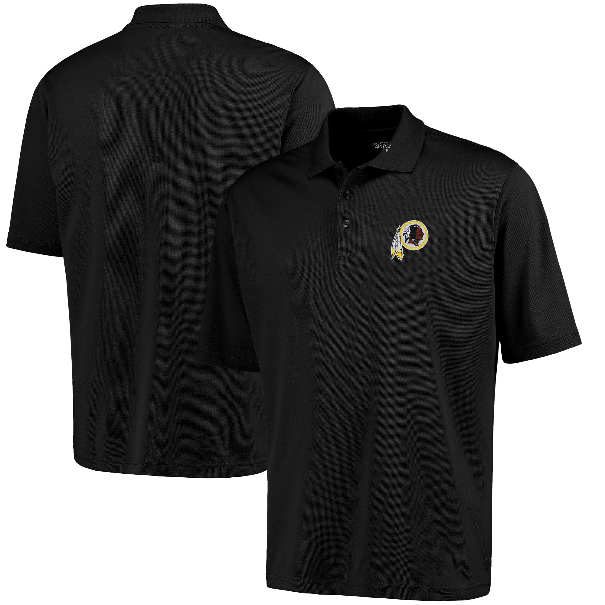 Antigua Washington Redskins Pique Xtra-Lite Polo - Black