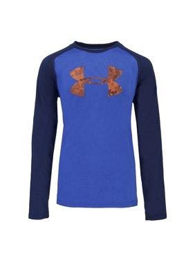 c91e8fa38 Product Image Under Armour Boys  Two-Tone Big Logo L S T-Shirt