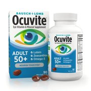 Ocuvite® Adult 50+ Eye Vitamins and Mineral Supplements with Lutein, Zeaxanthin and Omega-3–from Bausch + Lomb –90 Soft Gels
