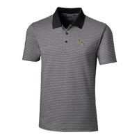 UCF Knights Cutter & Buck Forge Tonal Stripe Tailored Fit Polo Shirt - Black