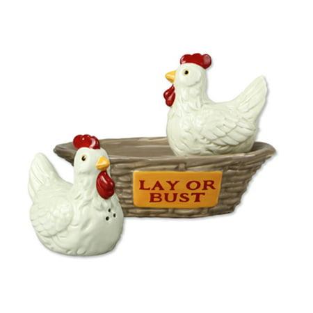 Ceramic Chicken Salt and Pepper Shaker Set