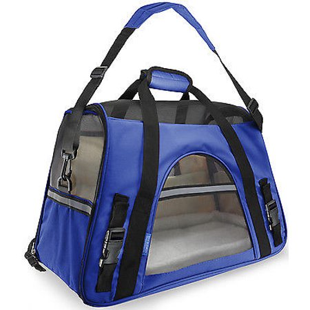 We Offer Pet Carrier Soft Sided Small Cat   Dog Comfort Sapphire Blue Bag Travel Approved  Istilo232352
