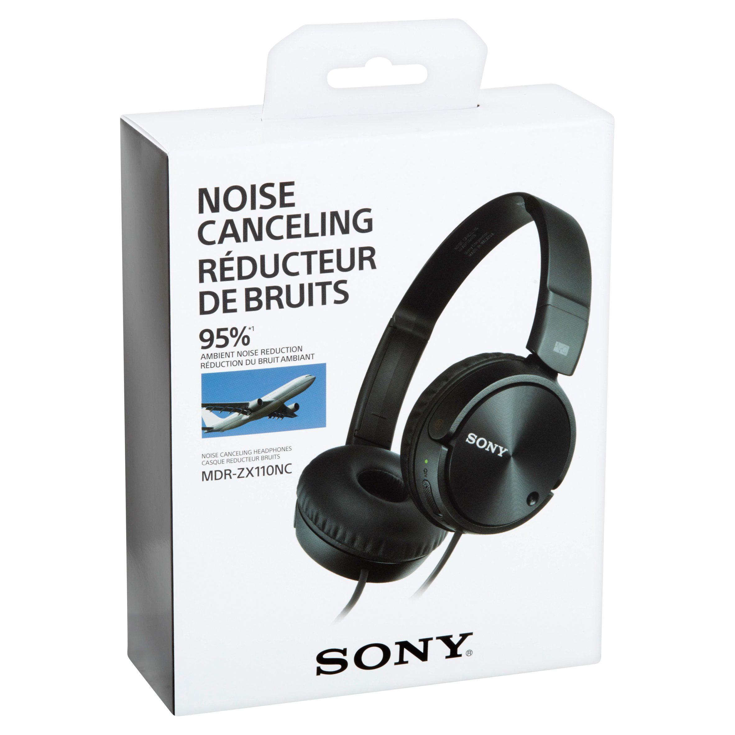 43f3f20b435 Sony MDR-ZX110NC Noise-Canceling Headphones - Walmart.com