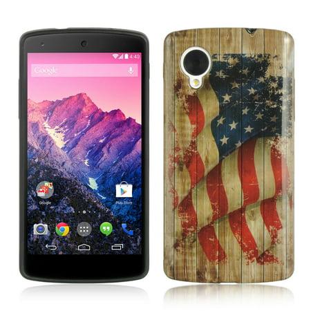 Insten TPU Imd Design Rubber Skin Gel Back Shell Case Cover For LG Google Nexus 5 D820 - Faded
