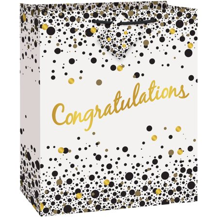 Speckled Black and Gold Congratulations Gift Bag](Children's Gift Bags)