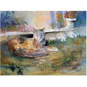 "Trademark Art ""Cat Nap"" Canvas Art by Ryan Radke"