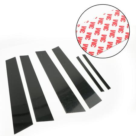 Black Pillar Posts 6PCS/Set Door Trim Cover Kit For Honda Civic 2006-2011 (4dr)