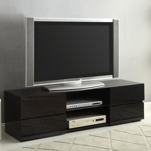 """Coaster Black Four Storage Drawer TV Console for TVs up to 55"""""""
