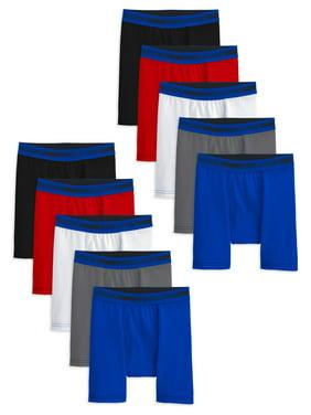 Fruit of the Loom Boys Underwear, 10 pack Cotton Stretch Boxer Briefs (Big Boys)