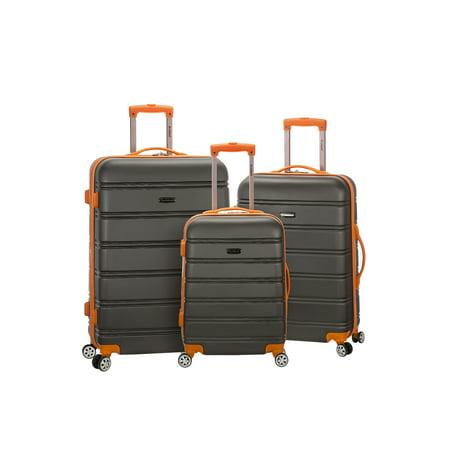 Rockland Luggage Melbourne 3 Piece Hardside Luggage Set ()