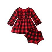 Infant Christmas Outfit for Girl Baby Xmas Party Romper Tutu Dress Clothes