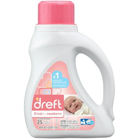 Dreft Stage 1: Newborn Liquid Laundry Detergent, 25 Loads 40 fl oz