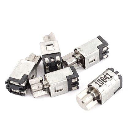 5pcs DC 1.5-3V 1500RPM  Micro Toy Vibration Motor 4.5x5x11mm (Dc Toy Motor)