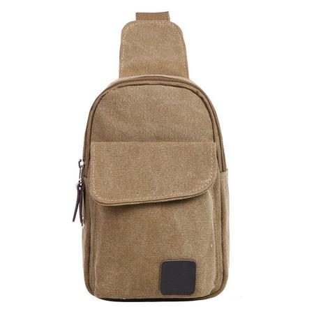 Messenger Sling - Men Canvas Bag Pack Travel Hiking Cross Body Messenger Shoulder Sling Chest Canvas Military Messenger Crossbody Bags Small Bags