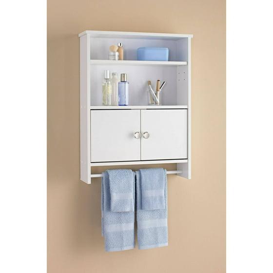 Mainstays 2-Door Bathroom Wall Cabinet, White - Walmart.com