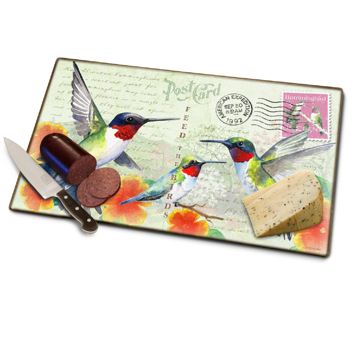 American Expedition Cutting Board - Hummingbird Postcard
